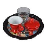 Biggdesign Kahve Takımı Ananadolu Motifi Kırmızı