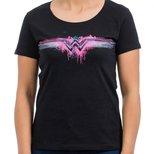 Batman v Superman T-Shirt Siyah Kadın