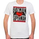 Batman v Superman  T-Shirt Beyaz Erkek
