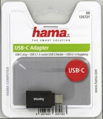 Hama USB-C Adapter, USB 3.1 Gen 1, USB-C Plug – USB-A socket, 5 Gbit/s