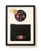 Leather&Paper Mini Deri Çanta Siyah&Ayna Set