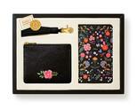 Leather&Paper Mini Deri Çanta Siyah&Püskül&Defter Set