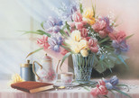 K.Color-Puz.1000 Vazoda Çiçekler 68x48