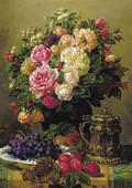 K.Color-Puz.1000 Güller,Üzüm,Erik Tab.68x48