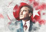 K.Color-Puz.1000 Atatürk ve Bayrak 68x48