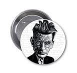 Aylak Adam Hobi-Samuel Beckett Karikatür Rozet