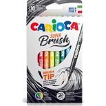Carioca Keçeli Boya Süper Brush Fırça Uçlu 10Lu