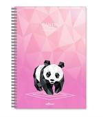 LeColor Defter A4 200 Sayfa Panda Kareli