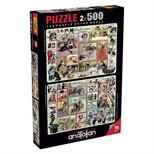Anatolian Puzzle 2x500 Parça Sevimli Kediler - Komik Köpekler 3611