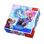 Trefl-Puzzle 3in1 Frozen Land Heroes / Disney Frozen 34810