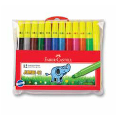 Faber-Castell Jumbi-Neon Floresan Markör, 12 Li Poset - 5068031242