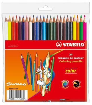 Stabilo Color 24  lü Kuru Boya Kutu 1224/77-01