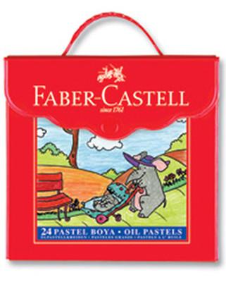 Faber-Castell Plastik Çantalı Tutuculu Pastel Boya 24 Renk - 5281125125