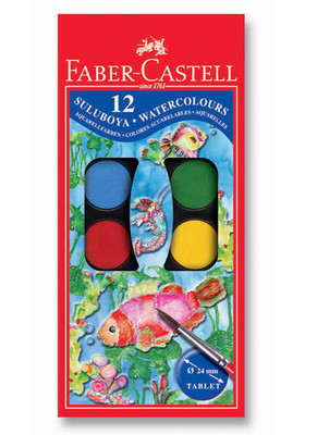 Faber-Castell Suluboya, 12 Renk Küçük Boy   - 5292125011