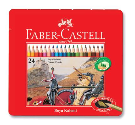 Faber-Castell Metal Kutu 24 Renk Boya Kalemi