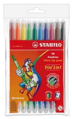 Stabilo Trio 2 In 1 Keçeli Kalem 222/10-01