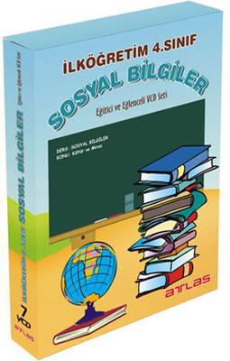 Atlas İlköğretim 4.Sınıf Sosyal Bilgiler Vcd Seti 7 VCD + Rehberlik Kitapçığı