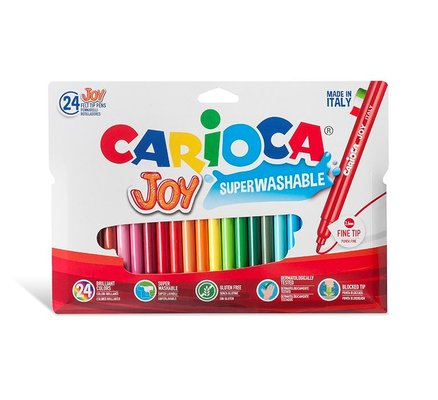 Carioca Joy Süper Yıkanabilir Keçeli Boya Kalemi 24'lü (40532)