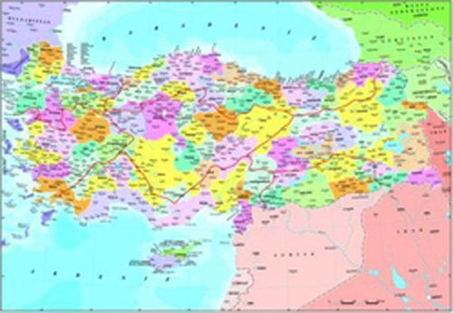 Anatolian Türkiye Siyasi Haritasi 3269 260 Parça