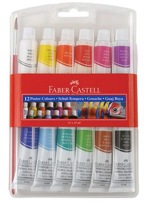 Faber-Castell Tüp Guaj Boya 12 Renk - 5170121011