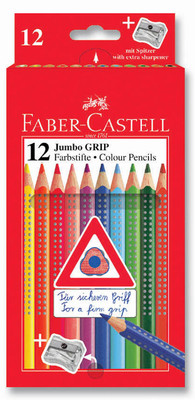 Faber-Castell Jumbo Grip Boya Kalemi, 12 Renk - 5170110912