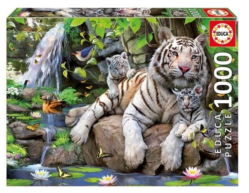 Educa 14808  Bengal White Tigers 1000 Parça Puzzle