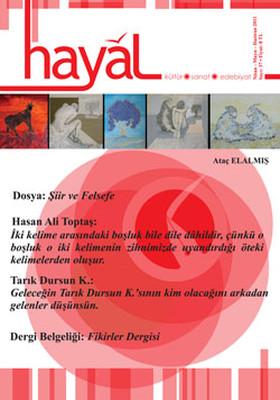 Hayal Kültür Sanat Edebiyat Dergisi - Sayı 37