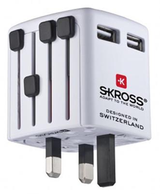 Swiss Travel Products World USB Şarj Cihazı Beyaz