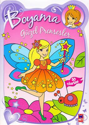 Güzel Prensesler Boyama Kitabı - Mor