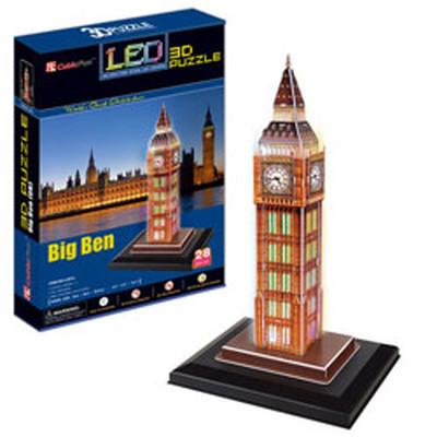 Neco Big Ben - Ingiltere ( Led Isik Seri ) 3D Puzzle L501H
