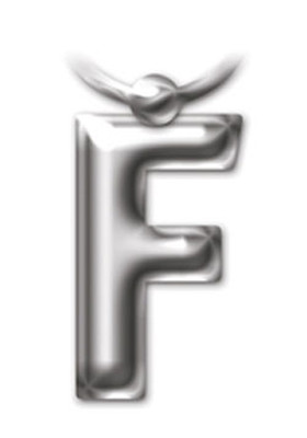 İF 2206 Letter Keyring/Anahtarlık - F