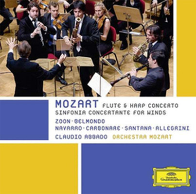 Mozart: Sinfonia Concertante For Winds;Flute & Harp Concertos