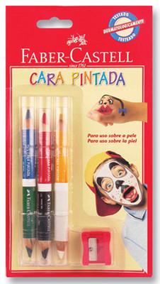 Faber-Castell 6 Renk Yüz Boyası Kalemi