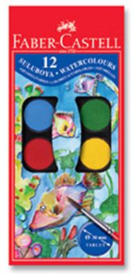 Faber-Castell Suluboya, 12 Renk Büyük Boy   - 5292125012