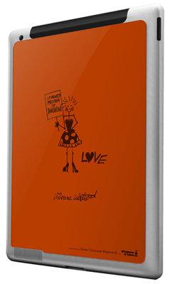 """WIT iPad2 3D Protection Skin """"V. Westwood"""" Turuncu WIT.PD2.3VW01"""