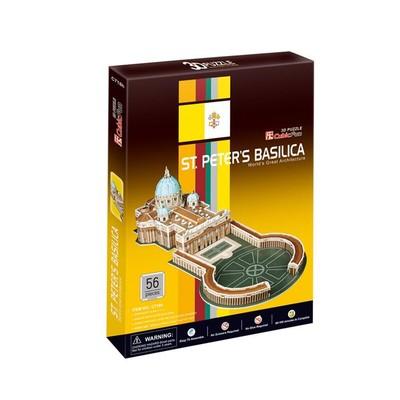 Neco St Peters Basilica Vatikan - Italya 3D Puzzle - C718H