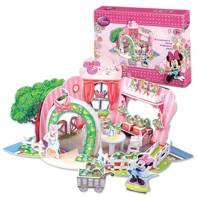 Minnie Çiçek Dükkani 3D Puzzle - Ds0922H