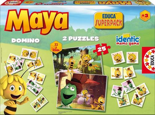 Educa Puzzle Süperpack Ari Maya (2x25 Puzzle + 1 Hafiza Oyunu + 1 Domino) - 15097