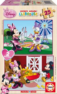Educa Puzzle 2x25 Minnie (Disney Ahşap Puzzle) - 15279