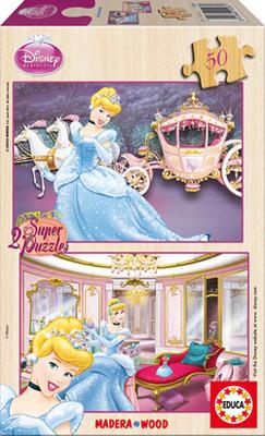 Educa Puzzle 2x50 Sindirella (Disney Ahsap Puzzle) - 15286
