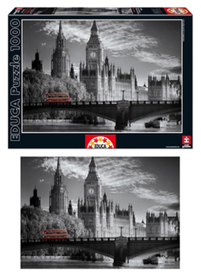 Educa London Bus 1000 Parça Puzzle - 15180