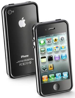 Cellular Line iPhone 4 Bumper Kılıf Siyah