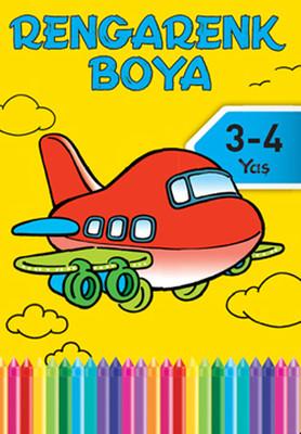 Rengarenk Boya 3-4 Yaş Sarı Kitap