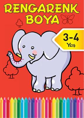 Rengarenk Boya 3-4 Yaş Kırmızı Kitap