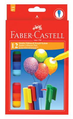 Faber-Castell Eglenceli Jumbo Keçeli Kalem,12 Renk - 5068662120