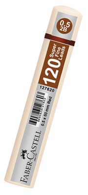 Faber-Castell Grip Min 0.5 2B 60Mm, 120 Li Beyaz Tüp  - 5090127624