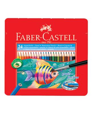 Faber-Castell Metal Kutu Aquarel Boya Kalemi 24 Renk   - 5170115930