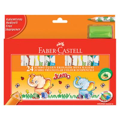 Faber-Castell Jumbo Üçgen Ekolojik Boya Kalemi 24 Renk - 5171123024