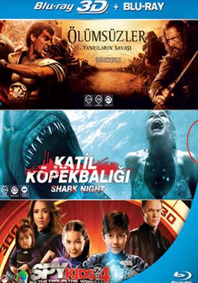 Esen Özel 3D Blu-Ray Set 3 (Immortals + Shark Night + Spy Kids 4)