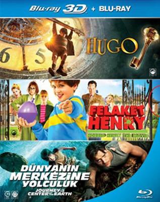 Esen Özel 3D Blu-Ray Set 2 (Hugo + Horrid Henry + Journey To The Center of the Earth )